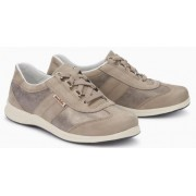 Mephisto Liria beige leather lace-up shoe women