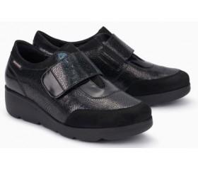 Mephisto Ginger leather slip-on shoe for women black