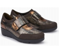 Mephisto Ginger leather slip-on shoe for women brown
