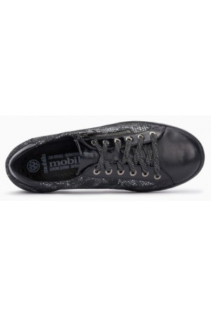 Mephisto Hawai black leather lace shoe women