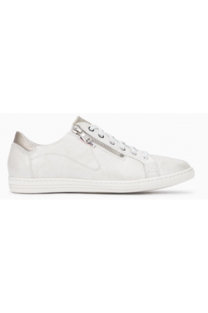 Mephisto Hawai white leather lace shoe women