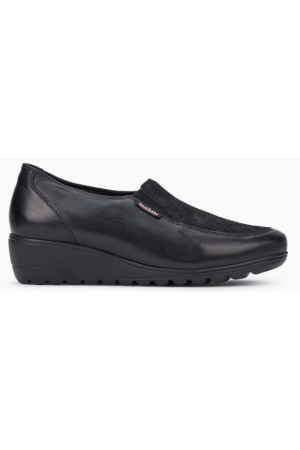 Mephisto Bertrane leather black slip-on shoes women