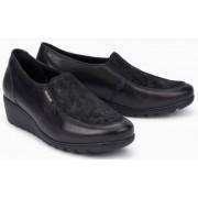 Mephisto Bertrane leather black slip-on shoes women