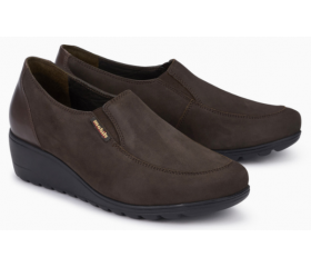 Mephisto Bertrane leather brown slip-on shoes women