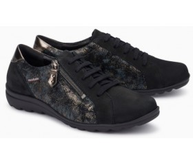 Mephisto Camilia black leather lace shoe women