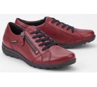 Mephisto Camilia red leather lace shoe women
