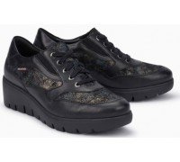 Mobils by Mephisto Sheila Leather Sneaker for Women - Wide Fit - Black