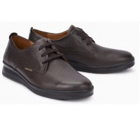 Mephisto Lester leather lace up shoes for men dark brown