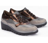 Mobils by Mephisto Sheila Leather Sneaker for Women - Wide Fit - Beige