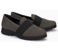 Mephisto Loriane leather grey slip-on shoes women