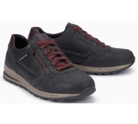 Mephisto BRADLEY leather sneakers for men grey