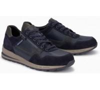 Mephisto BRADLEY leather sneakers for men blue