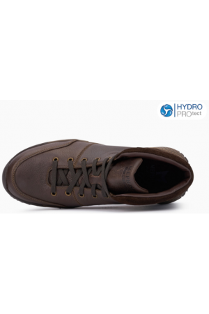 Mephisto Fausto smooth leather suedo lace shoe for men  brown