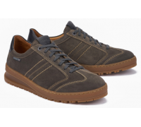Mephisto JUMPER smooth leather suede lace up shoes for men grey