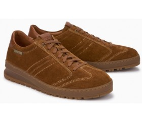 Mephisto Jumoer smooth leather suede lace up shoes for men brown