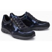 Mephisto Ylona blue leather lace shoe women