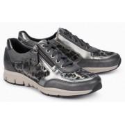 Mephisto Ylona grey leather lace shoe women