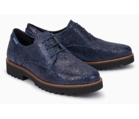 Mephisto Sabatina leather lace-up shoes for women blue