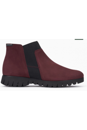 Mephisto Lyana leather ankle boots women - red
