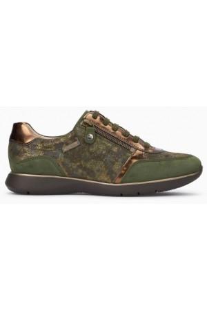 Mephisto Monia leather sneaker for women green