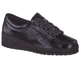 Mephisto Lady Vernis leather laceshoe women black