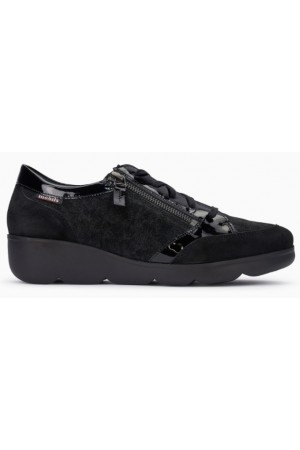 Mephisto Gladice black leather lace shoe for women
