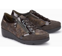 Mephisto Gladice brown leather lace shoe for women