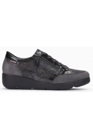 Mephisto Gladice grey leather lace shoe for women