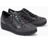 Mephisto Gladice grey leather lace shoe for women