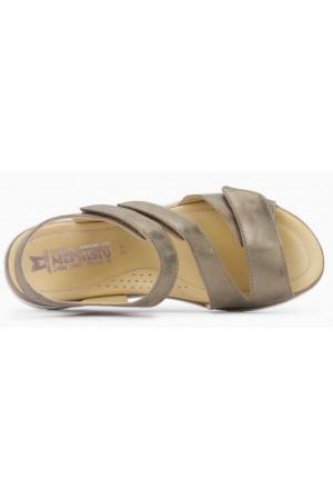 Mephisto Klodia leather sandals for women beige