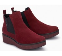 Mephisto Emie leather chelsea ankle boots women - red