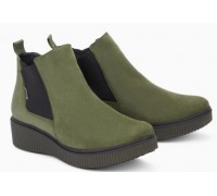 Mephisto Emie leather chelsea ankle boots women - green