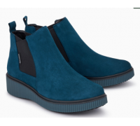 Mephisto Emie leather chelsea ankle boots women - blue