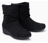 Mephisto Agatha leather ankle boots women - black