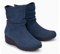 Mephisto Agatha leather ankle boots women - blue