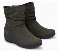 Mephisto Agatha leather ankle boots women - grey