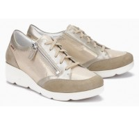 Mephisto Gladice beige leather lace shoe for women