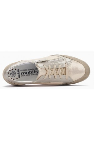 Mephisto Gladice beige leather lace shoe for women