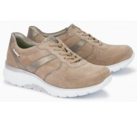 Sano by Mephisto Isalys Leather & Suede Lace-Up Shoe for Women - Beige
