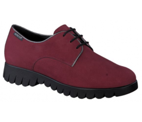 Mephisto Loreen red leather lace shoe women