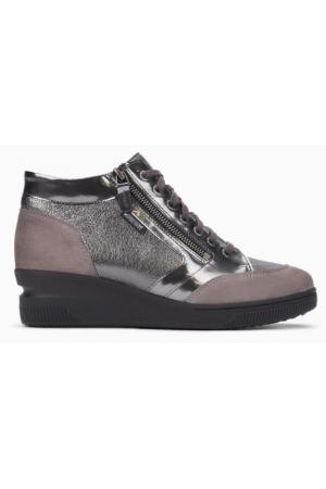 Mephisto Nasera grey leather lace shoe women