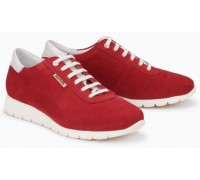 Mephisto Dorothe leather lace shoe women - red