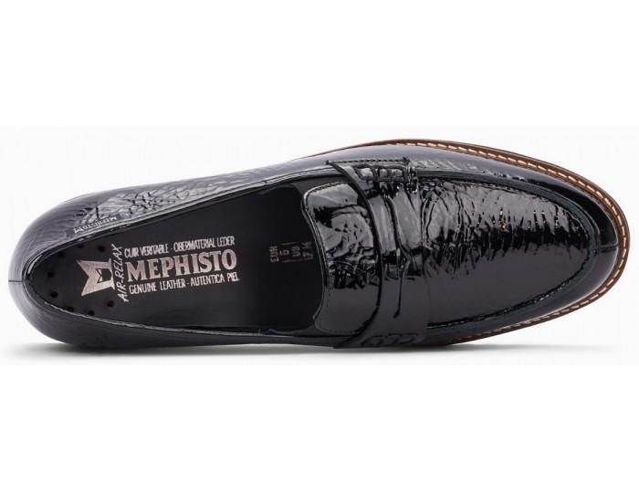 Mephisto Sidney leather black slip-on