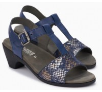 Mephisto CARINE leather sandals for women blue