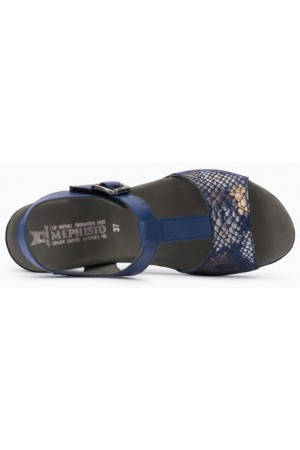Mephisto Lea leather sandals for women blue