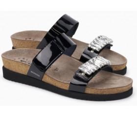 Mephisto Hakila leather women sandal black