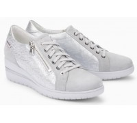 Mobils by Mephisto Patsy Leather Sneaker for Women - Wide Fit -  Grey