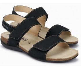 Mephisto AGAVE Women Sandal Nubuck Black