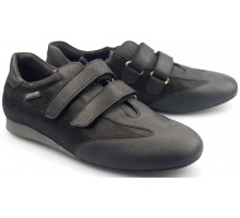 Mephisto BEA black leather women sneaker with double velcro