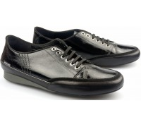 Mephisto BRENIA black patent leather women laceshoe